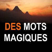 image couleur de l'icone de l'application des mots magiques : un coucher de soleil sur des montagnes sombres qui dessinent l'horizon.