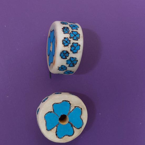Blue Flower beads