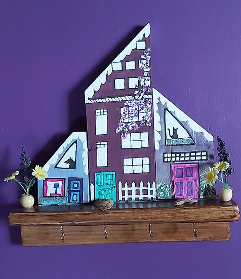 Purple condo key holder
