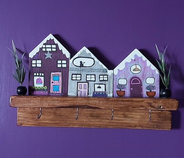 Purple and grey houses