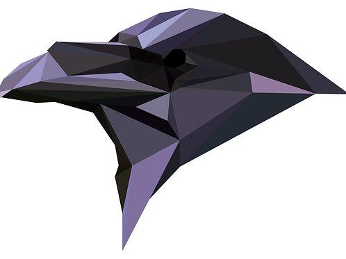 Geometric Raven - Vector illustration greeting card