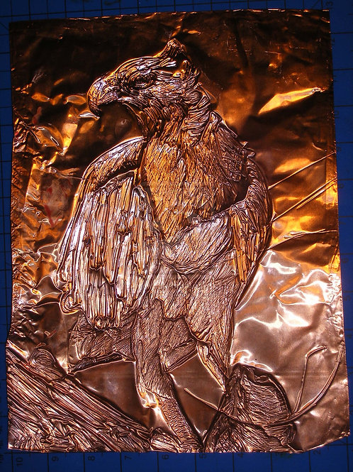 Osprey Copper Embossing - Fine art greeting card