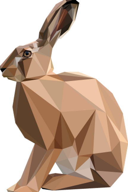Geometric Hare - Vector illustration postcard