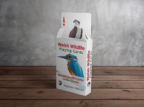 Welsh Wildlife Playing Cards / Bywyd Gwyllt Cymru Cardiau Chwarae