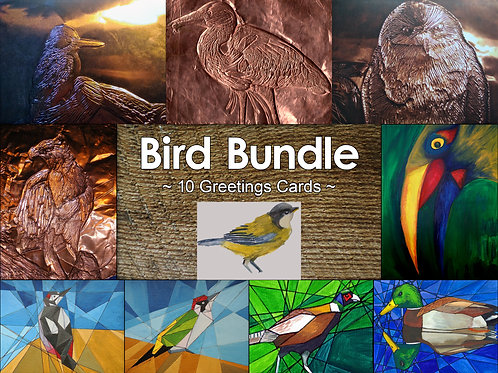 Mixed Pack of 10 Bird Greeting Cards