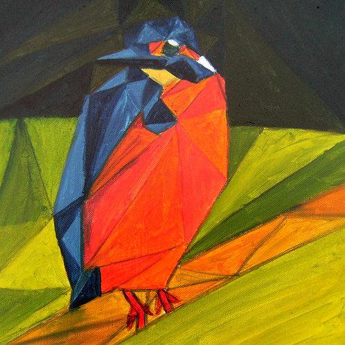 Kingfisher - Fine art greeting card