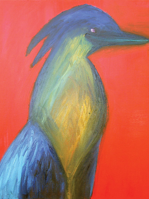 Heron - Fine art greeting card