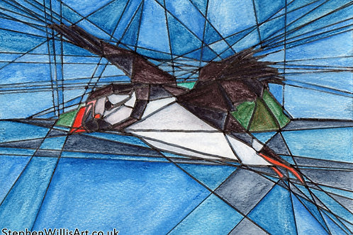Puffin - Fine art postcard