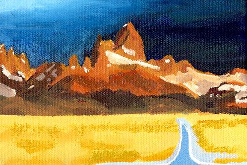 Monte Fitz Roy - Fine art postcard