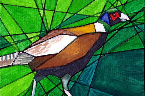 Pheasant - Fine art greeting card