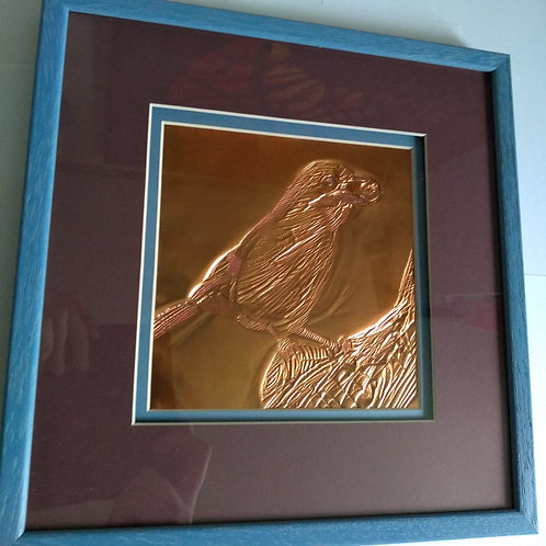 The Jay - Original Framed Copper Embossing