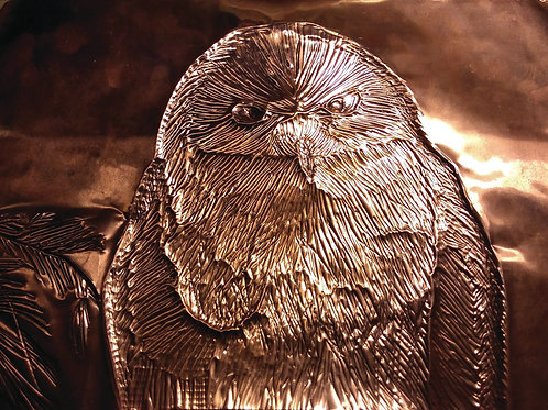 Snowy Owl Copper Embossing - Fine art greeting card