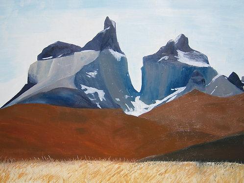 Los Cuernos Del Paine - Fine art postcard