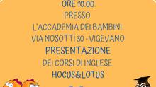 OPEN DAY - CORSI DI INGLESE PER BAMBINI HOCUS & LOTUS - VIGEVANO