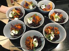 Mini mexican bowl food
