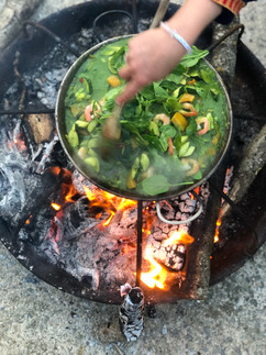 Fire pit curry