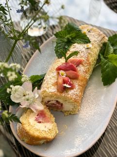 Rhubarb Roulade