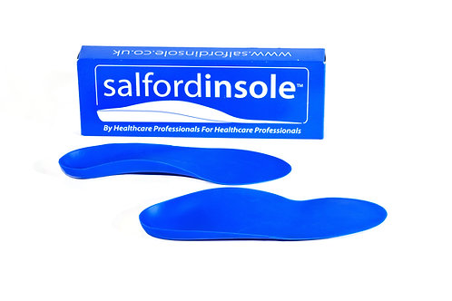 Salfordinsole Blue FIRM Insoles with 6mm Heel Raise