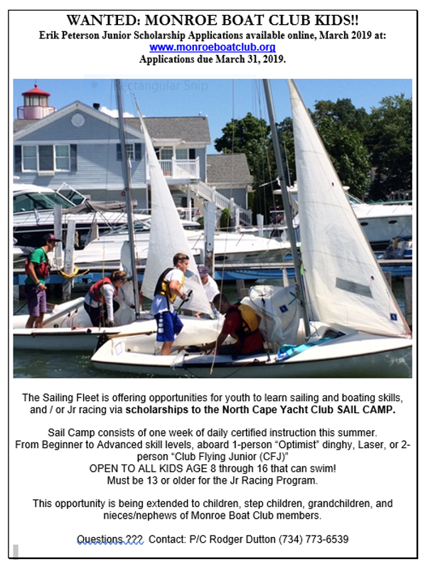 2019 Sailing Scholarship Flyer.PNG