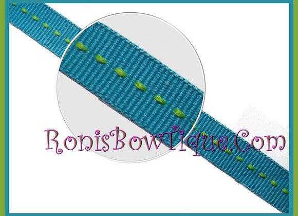 "3/8"" Miami Limeade Stripe Ribbon - 1 YARD"
