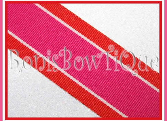 Orange Guava Stripe Ribbon