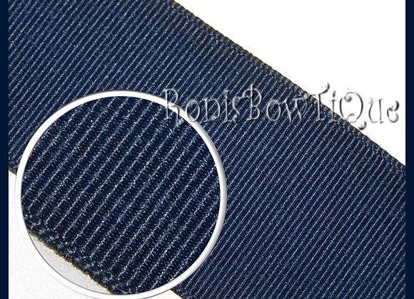 Navy Blue Solid Grosgrain Ribbon