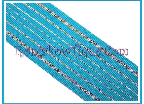 Blue Glitz Glitter Ribbon