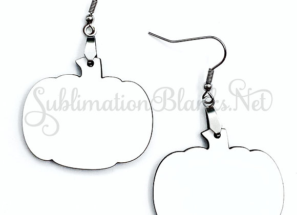 SUBLIMATION BLANKS PUMPKIN Earrings Unisub Mdf Hardboard Earring Blanks 1.5 Inch