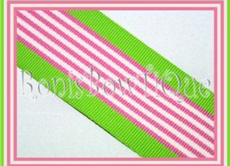 Pink Hawaiian Twist Stripe Ribbon
