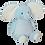 Thumbnail: EMBROIDER BUDDY Ellie Elephant Buddy Blue Personalized Gift Stuffed Animal