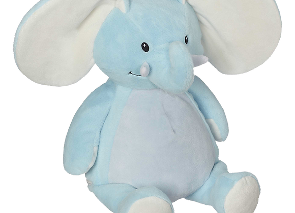 EMBROIDER BUDDY Ellie Elephant Buddy Blue Personalized Gift Stuffed Animal