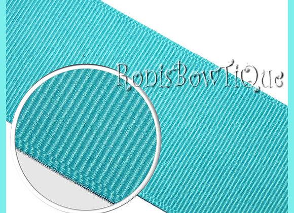 Aqua Blue Solid Grosgrain Ribbon