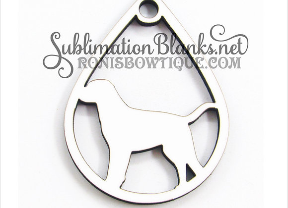 DOG Teardrop SUBLIMATION BLANKS EARRING BLANKS MDF
