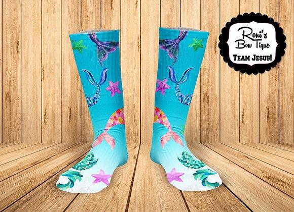 MERMAID Printed Socks Personalized Socks-ADD A NAME OR PHOTO