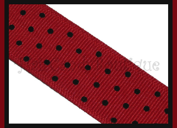 Red with Black Swiss Dots RIBBON