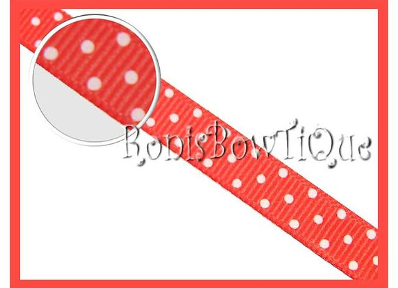 Orange with White Swiss Dots RIBBON
