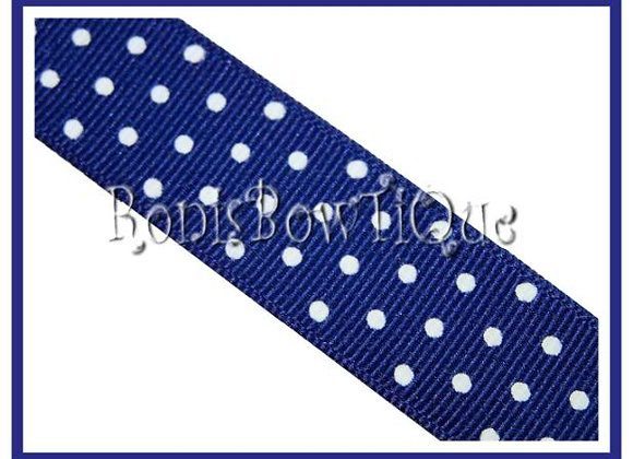 Royal Blue with White Swiss Dots RIBBON