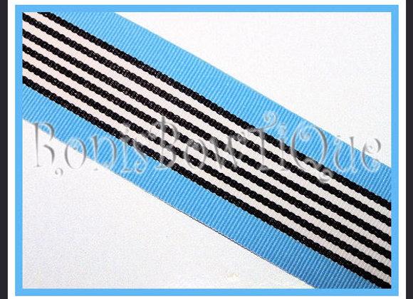 Blue Zebra Stripe Ribbon