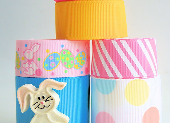 EASTER EGG RABBIT FUN RIBBON LOT