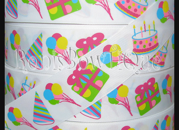 Birthday Party Ribbon by the Yard