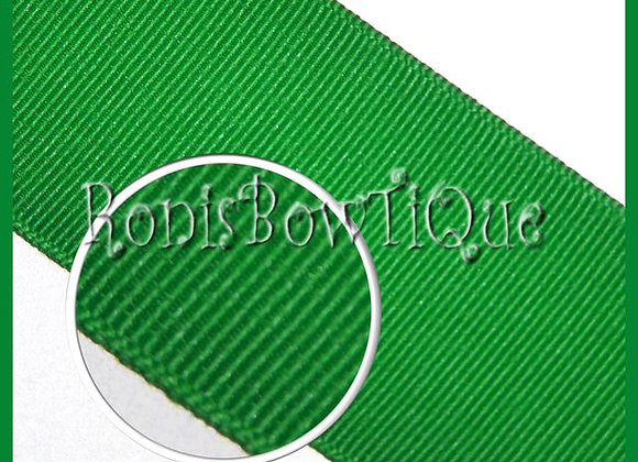 Emerald Green Solid Grosgrain Ribbon