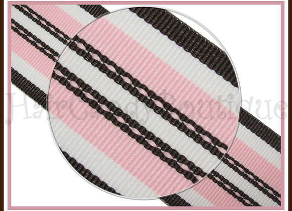 Pink Brown Super Hot Trax of Stripe Ribbon