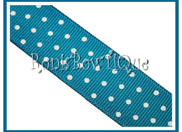 Turquoise with White Swiss Dots RIBBON