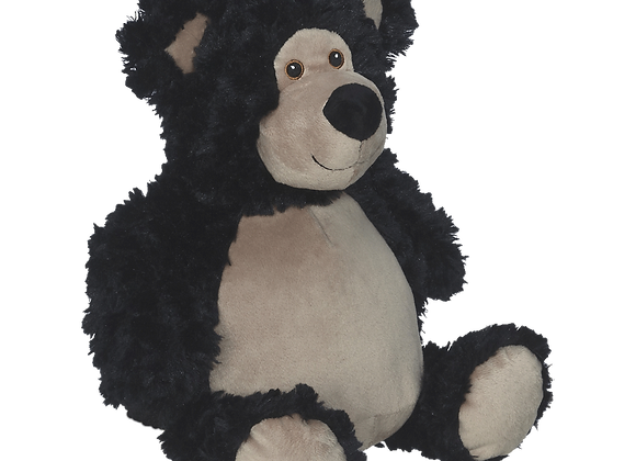 EMBROIDER BUDDY Bobby Buddy Bear, BLACK Personalized Gift Teddy Bear