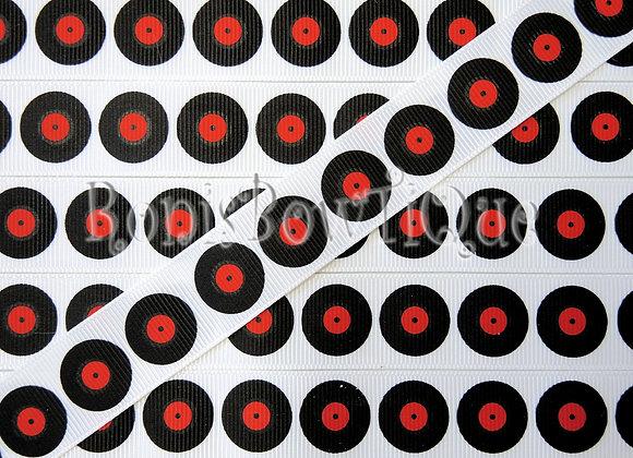 "7/8"" 80s VINYL LP VINTAGE RECORD RIBBON"
