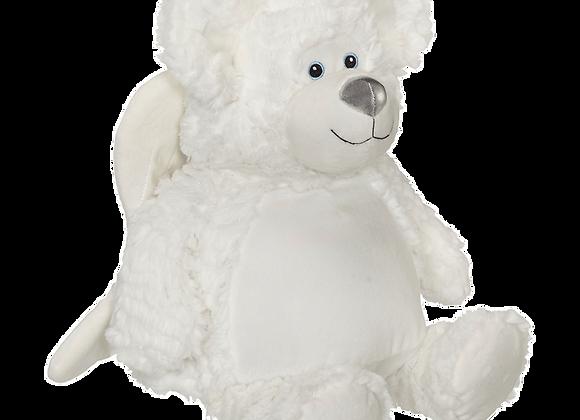 EMBROIDER BUDDY Bobby Angel Buddy, White Personalized Gift Teddy Bear