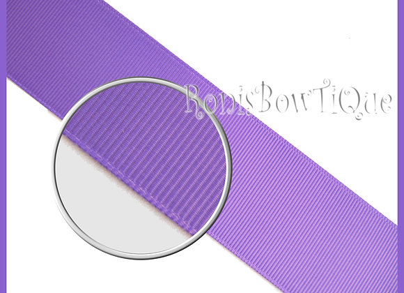 Delphinium Purple Solid Grosgrain Ribbon