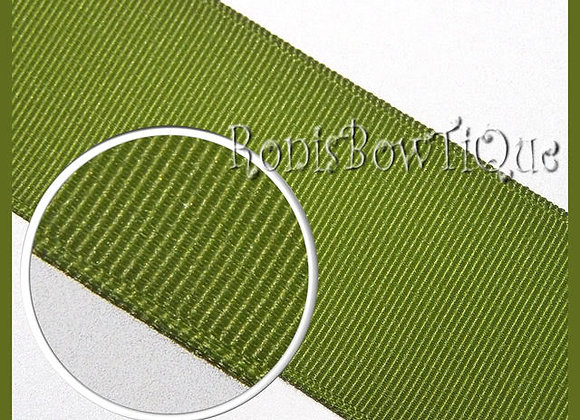Olive Willow Solid Grosgrain Ribbon
