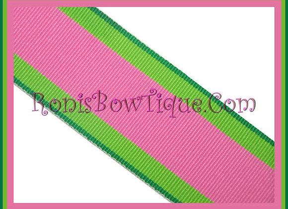 "3/8"" Passion Fruit Stripe Ribbon - 1 YARD"