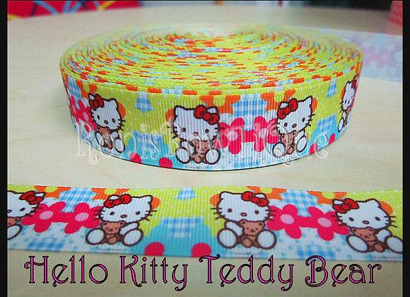 HELLO KITTY PATCHWORK TEDDY BEAR